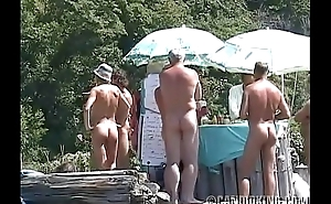 Candid tow-haired revealed on the nude beach!