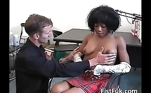 Hot blacklist receives pussy fucked by a hard