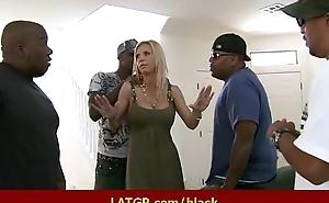 Interracial porn - MILF fucked wide of big Black men's huge cocks awesome sex 9