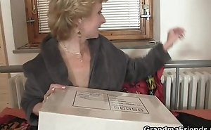 Full-grown slut takes two schlongs