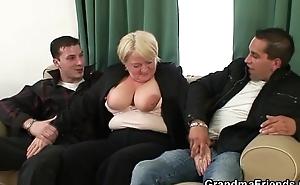 Two buddies pick round granny