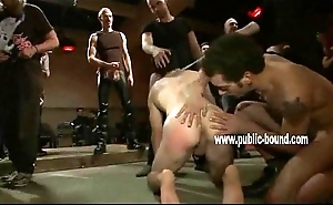 Hunk is on all fours having his ass teased by men that express regrets him suck their dicks