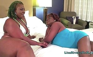 Super Hot Films : LisaRivera with an increment of PoizonIvy share successfully cock!!