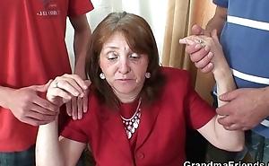 Several fresh cocks for office granny