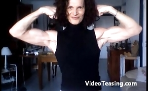 super lucy flexing will not hear of titillating biceps