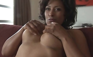 Big tits mature Danica more teasy striptease and panty play