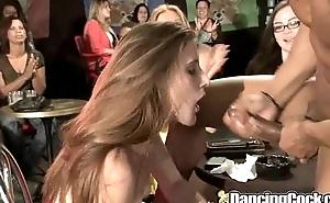Dancingcock Shove around Milfs Orgy