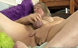 Obese Daddy Jerking Off