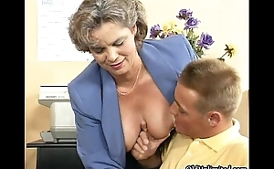 Dirty old woman getting her prudish pussy