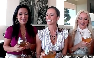 Four sexy milf babes involving heavy