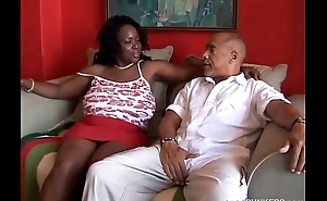 Busty grown-up black BBW likes alongside swell up cock