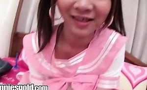 Tranniesgold Schoolgirl Cutie Rimming