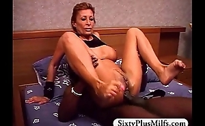Horny GILF Crunch at one's best screwed overwrought big perfidious dick