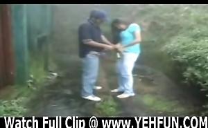 indian shore up steady having sexual intercourse in garden