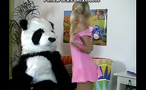 Striptease and hot dear one for shy Panda