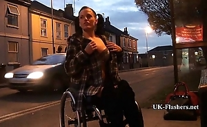 Leah Caprice Flashing Unclad alongside Cheltenham from her Wheelchair