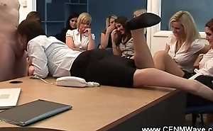 Eager floozy cant be kept of his hard dick in front of a crowd