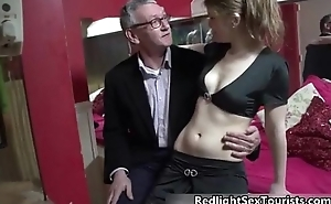 Roasting guy gets his gumshoe sucked
