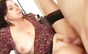Brunette Milf Likes Roughly Fuck Younger Men