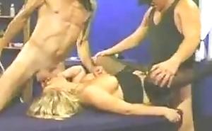 Cum slut helps 16 strangers make 18 yo blonde pregnant