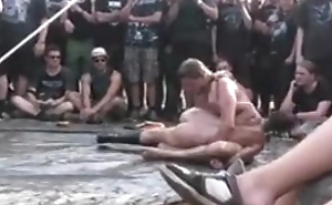 Wacken 2010 spontanious Oil Wrestling on tap Campground C Part 2/2