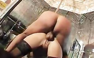 Drunk Dutch blonde fucked in a strip club