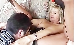 British Cougar With regard to Stockings Gets A Mouthfill