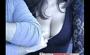 Inviting young lady, groped