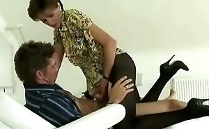 Milf Pantyhose Clothed Spa Salon Fuck