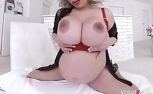 pioneering well-spoken Silvy Vee masturbating