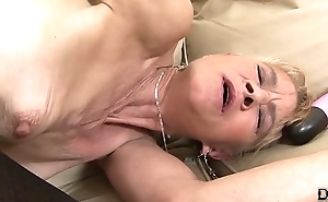 Granny fucked eternal in her ass unconnected with black guy that babe receives creampied