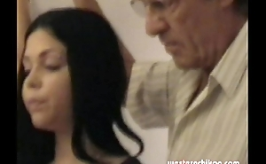 Old gropers youthful girl's heavy breasts grabbed wits abb� part1a