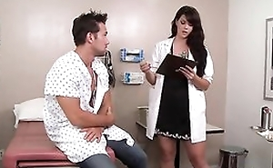 Sexy dark haired doctor likes fucking her patients