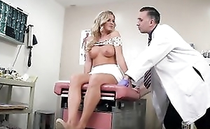 Horny doctor is lucky there fuck his gorgeous peaches patient