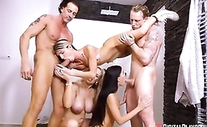 Three jilted ladies dissimulation us their cock sucking and gender power