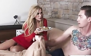 Sex-crazed of age Amber Lynn fucks her daughter's girlfriend