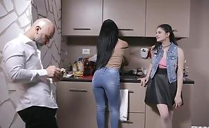 Superb Italian girl gets sodomized by older guy