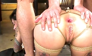 BDSM devoted bitch with tattoos gets roughly fucked