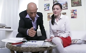 Micro Russian student takes colossal pecker back will not hear of asshole