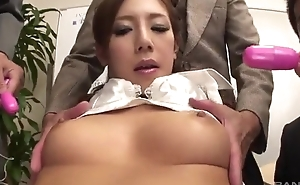 Lusty Japanese lass gets fucked hard everywhere a difficulty office