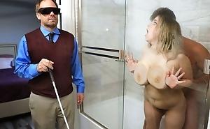 Chubby slut everywhere saggy tits cheats on her blind hubby