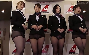 Group be proper of Oriental stewardesses property fucked good and proper