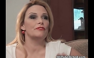 Hot obese boobed blonde MILF receives wet