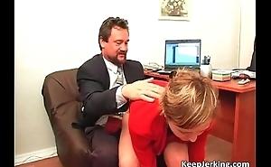 Boss nails randy secretary in office
