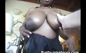 Gaffer ebony Lola titfuck together with gives fellatio