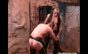 Duo fetish gays around leather masturbate and fuck their booties